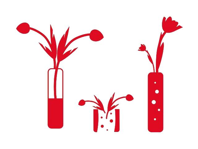 Naklejka dekoracyjna welurowa kwiaty 673006-6 Klimaty Domu