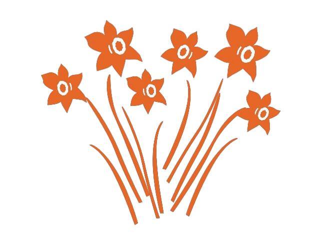 Naklejka dekoracyjna welurowa kwiaty 673007-1 Klimaty Domu