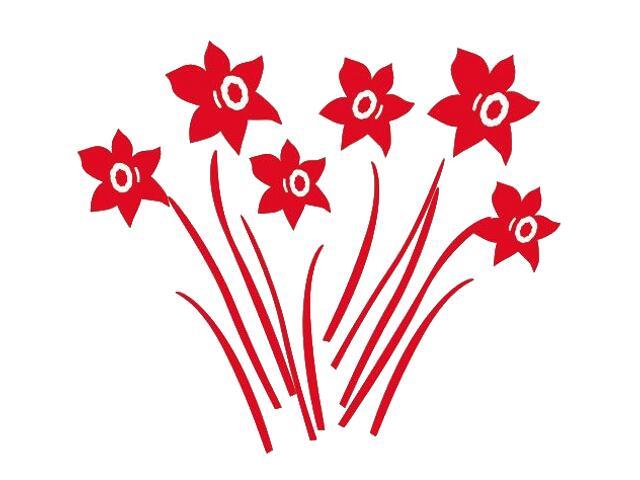 Naklejka dekoracyjna welurowa kwiaty 673007-6 Klimaty Domu