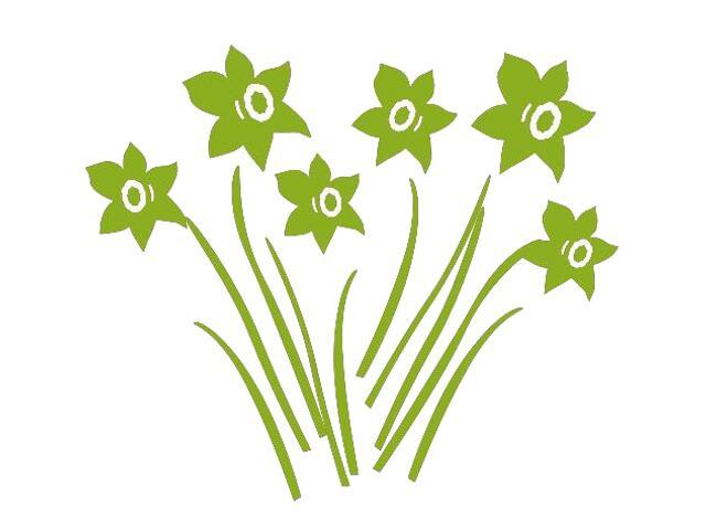 Naklejka dekoracyjna welurowa kwiaty 673007-5 Klimaty Domu