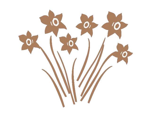 Naklejka dekoracyjna welurowa kwiaty 673007-8 Klimaty Domu