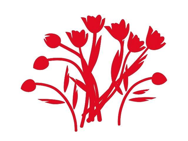 Naklejka dekoracyjna welurowa kwiaty 673008-6 Klimaty Domu