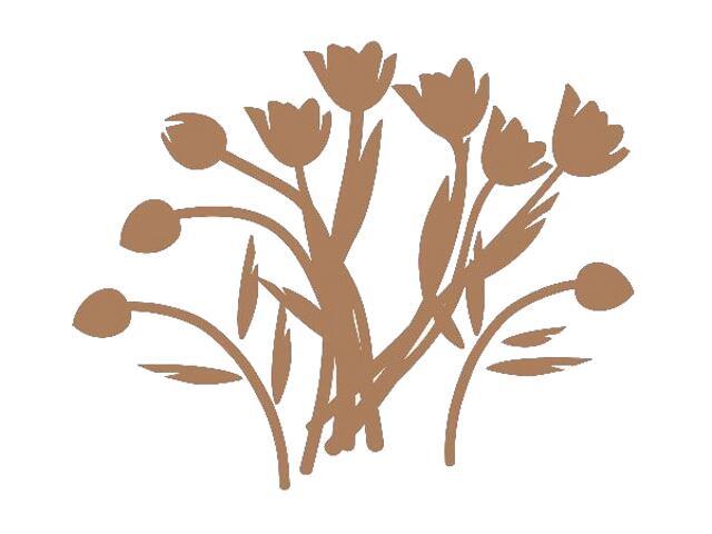 Naklejka dekoracyjna welurowa kwiaty 673008-8 Klimaty Domu