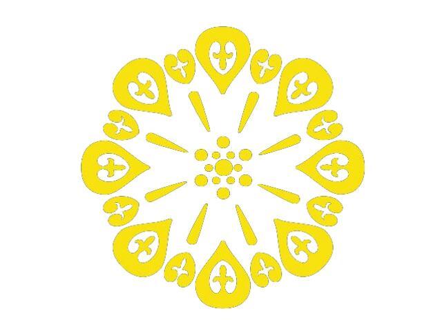 Naklejka dekoracyjna welurowa ornament 673010-3 Klimaty Domu