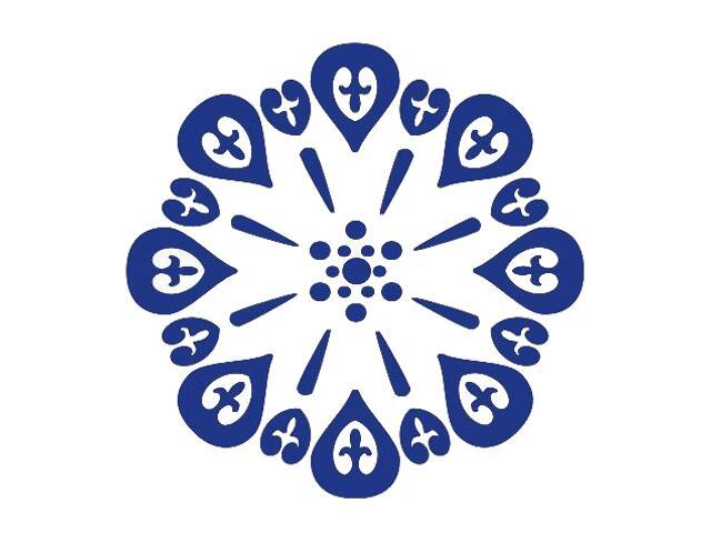 Naklejka dekoracyjna welurowa ornament 673010-13 Klimaty Domu