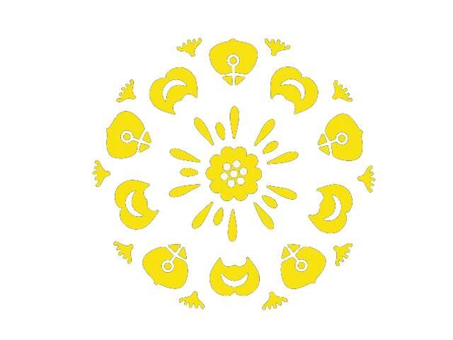 Naklejka dekoracyjna welurowa ornament 673011-3 Klimaty Domu