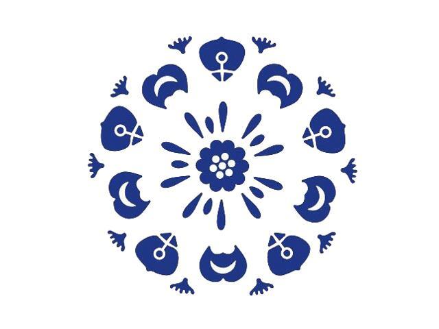 Naklejka dekoracyjna welurowa ornament 673011-13 Klimaty Domu