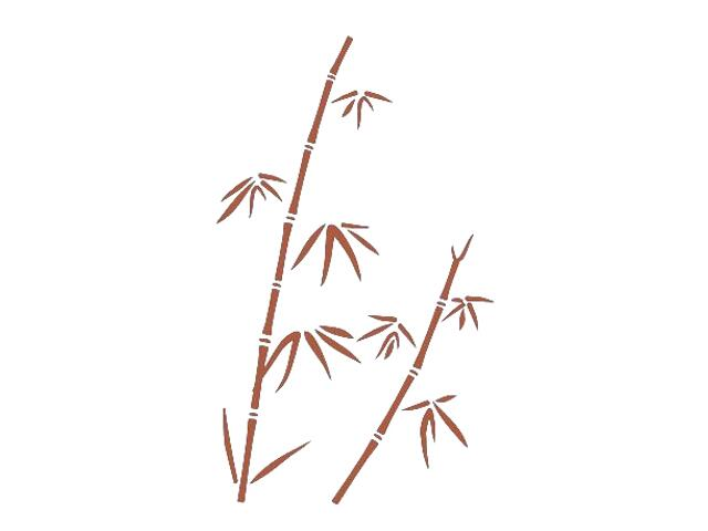 Naklejka dekoracyjna welurowa rośliny 673014-2 Klimaty Domu