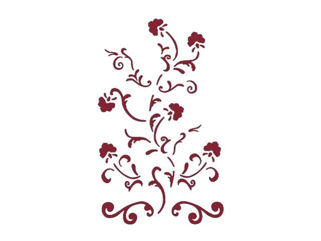 Naklejka dekoracyjna welurowa ornament 673015-11 Klimaty Domu