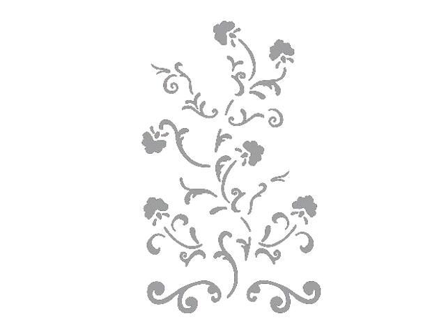 Naklejka dekoracyjna welurowa ornament 673015-12 Klimaty Domu