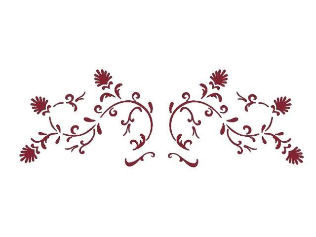 Naklejka dekoracyjna welurowa ornament 673016-11 Klimaty Domu