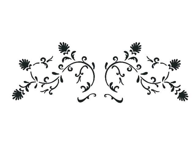 Naklejka dekoracyjna welurowa ornament 673016-7 Klimaty Domu