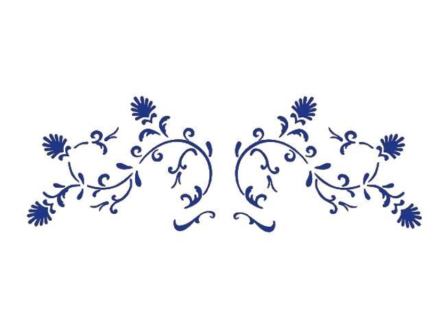 Naklejka dekoracyjna welurowa ornament 673016-13 Klimaty Domu