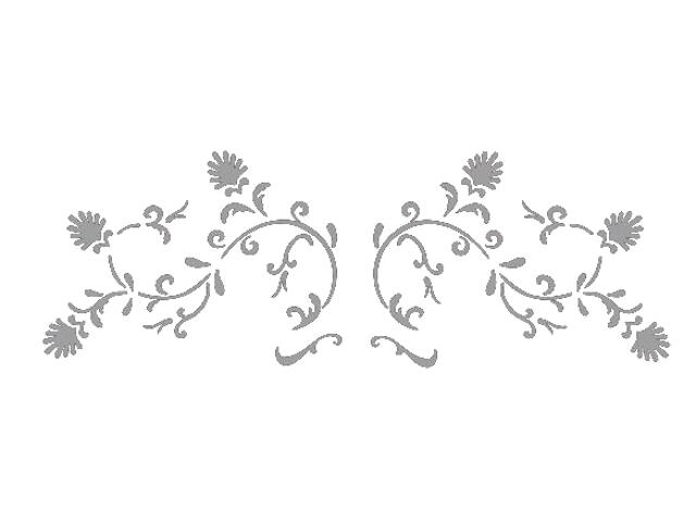 Naklejka dekoracyjna welurowa ornament 673016-12 Klimaty Domu