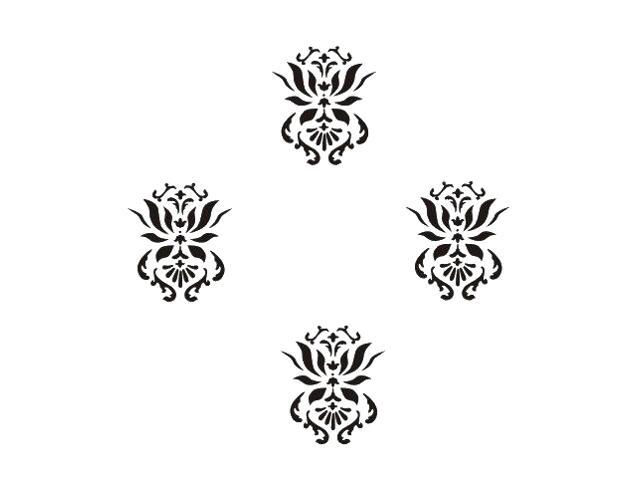 Naklejka dekoracyjna welurowa ornament 673017-7 Klimaty Domu