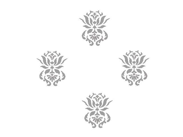 Naklejka dekoracyjna welurowa ornament 673017-12 Klimaty Domu