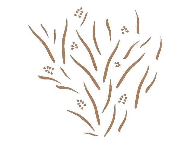 Naklejka dekoracyjna welurowa rośliny 673019-8 Klimaty Domu