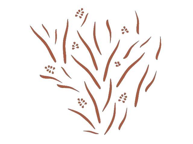 Naklejka dekoracyjna welurowa rośliny 673019-2 Klimaty Domu