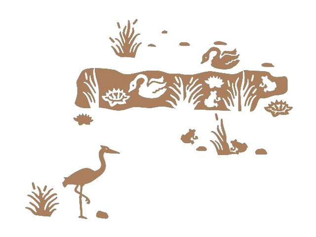 Naklejka dekoracyjna welurowa zwierzęta 673020-8 Klimaty Domu