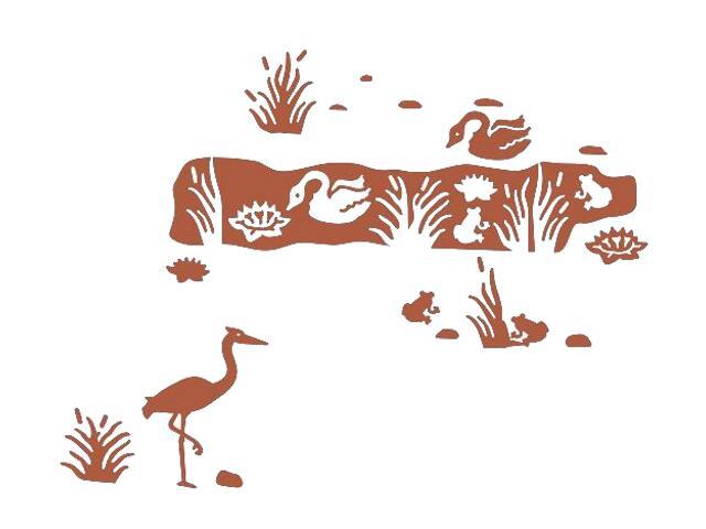 Naklejka dekoracyjna welurowa zwierzęta 673020-2 Klimaty Domu