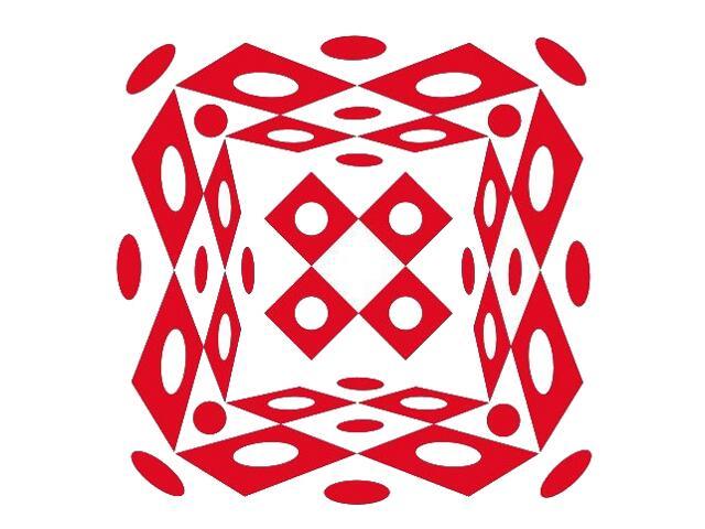 Naklejka dekoracyjna welurowa geometryczna 673023-6 Klimaty Domu