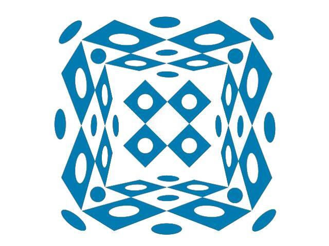 Naklejka dekoracyjna welurowa geometryczna 673023-4 Klimaty Domu
