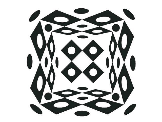 Naklejka dekoracyjna welurowa geometryczna 673023-7 Klimaty Domu