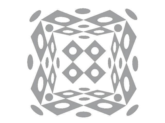 Naklejka dekoracyjna welurowa geometryczna 673023-12 Klimaty Domu