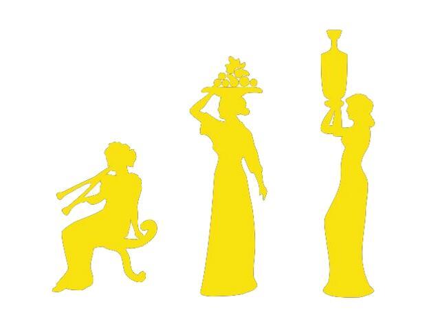 Naklejka dekoracyjna welurowa kobiety 673024-3 Klimaty Domu