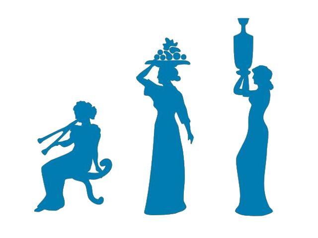 Naklejka dekoracyjna welurowa kobiety 673024-4 Klimaty Domu
