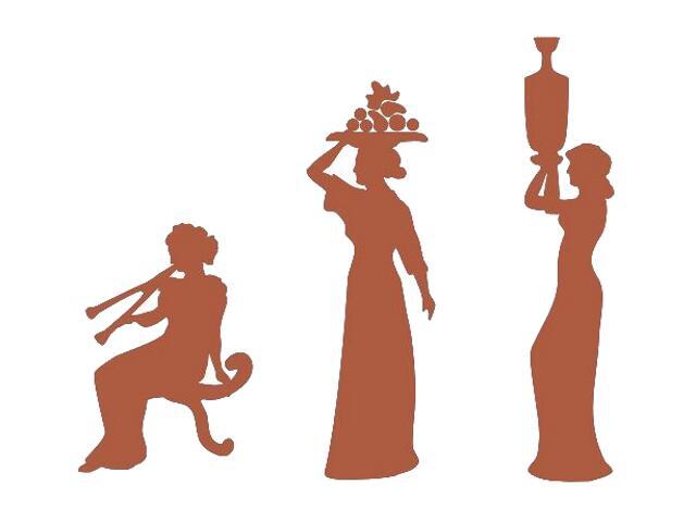 Naklejka dekoracyjna welurowa kobiety 673024-2 Klimaty Domu