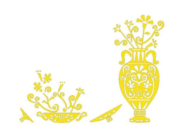 Naklejka dekoracyjna welurowa ornament etniczny 673025-3 Klimaty Domu