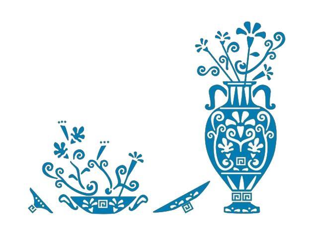 Naklejka dekoracyjna welurowa ornament etniczny 673025-4 Klimaty Domu