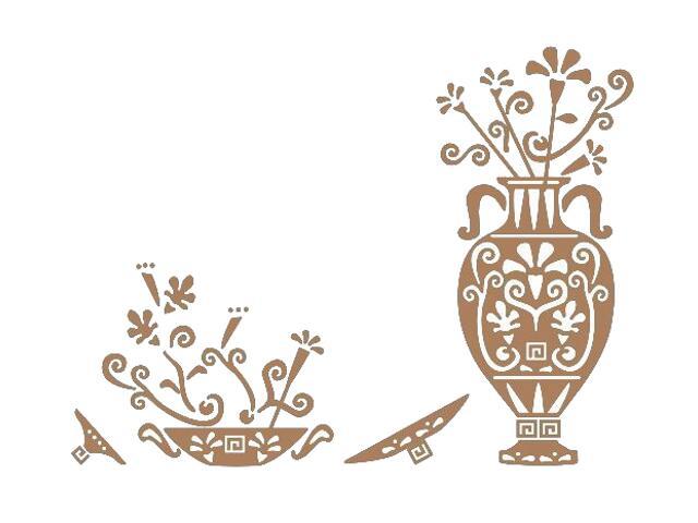 Naklejka dekoracyjna welurowa ornament etniczny 673025-8 Klimaty Domu
