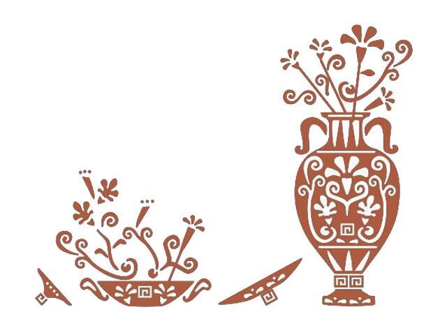 Naklejka dekoracyjna welurowa ornament etniczny 673025-2 Klimaty Domu