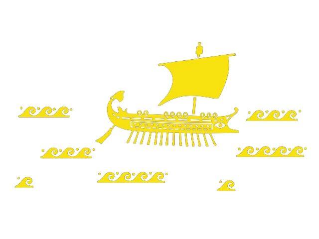Naklejka dekoracyjna welurowa statek 673026-3 Klimaty Domu