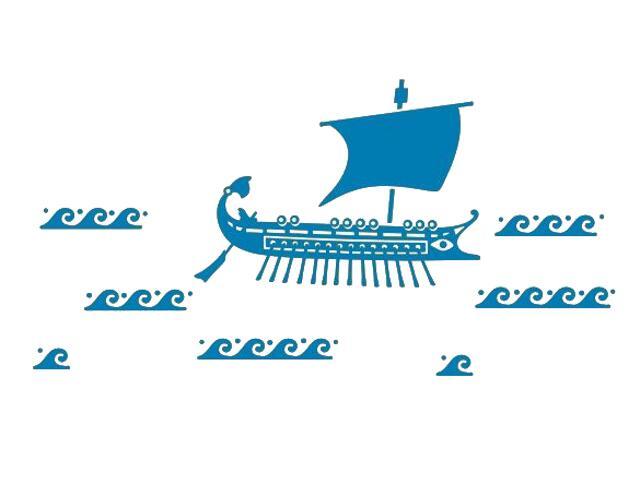 Naklejka dekoracyjna welurowa statek 673026-4 Klimaty Domu