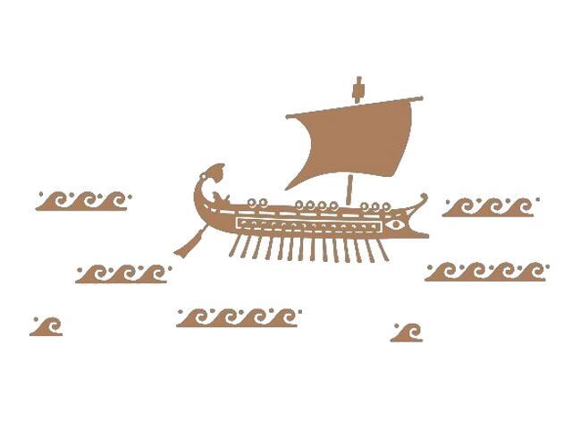 Naklejka dekoracyjna welurowa statek 673026-8 Klimaty Domu