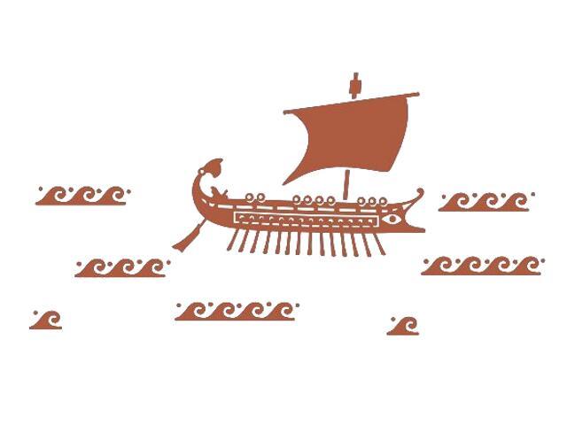 Naklejka dekoracyjna welurowa statek 673026-2 Klimaty Domu