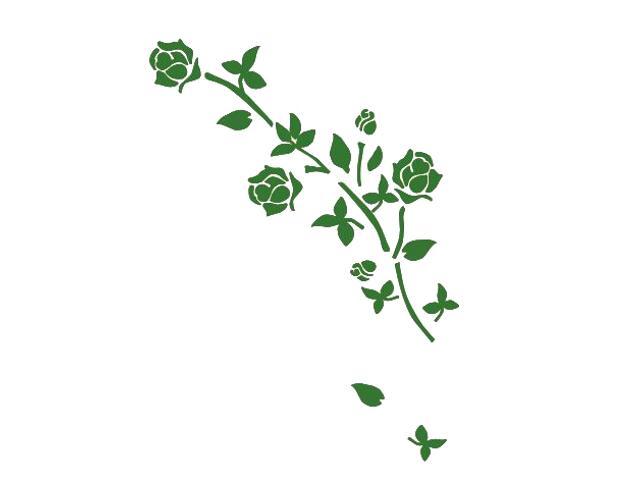 Naklejka dekoracyjna welurowa róża 673027-9 Klimaty Domu