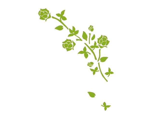 Naklejka dekoracyjna welurowa róża 673027-5 Klimaty Domu