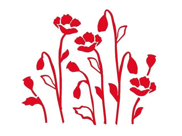 Naklejka dekoracyjna welurowa kwiaty 673028-6 Klimaty Domu