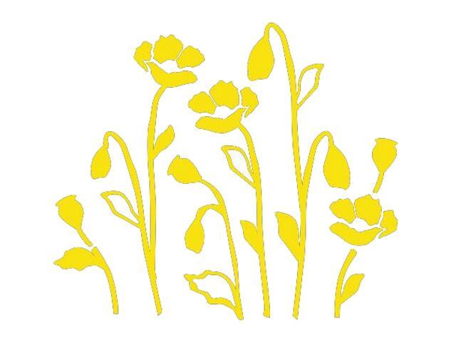 Naklejka dekoracyjna welurowa kwiaty 673028-3 Klimaty Domu