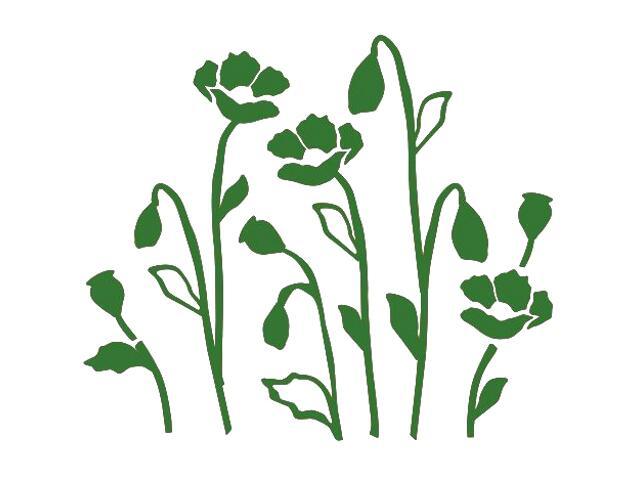 Naklejka dekoracyjna welurowa kwiaty 673028-9 Klimaty Domu