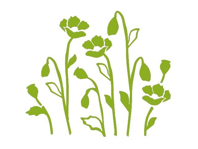 Naklejka dekoracyjna welurowa kwiaty 673028-5 Klimaty Domu