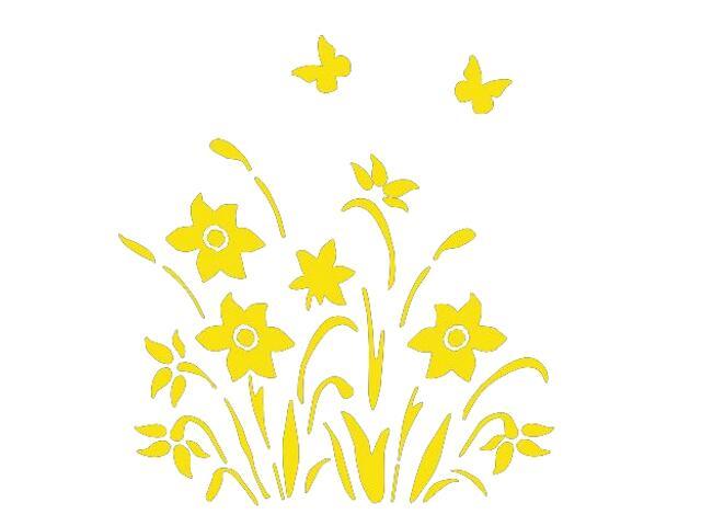 Naklejka dekoracyjna welurowa kwiaty 673029-3 Klimaty Domu