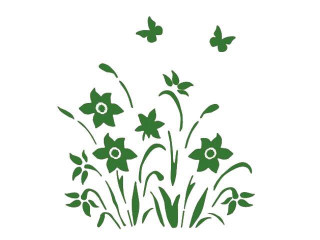 Naklejka dekoracyjna welurowa kwiaty 673029-9 Klimaty Domu