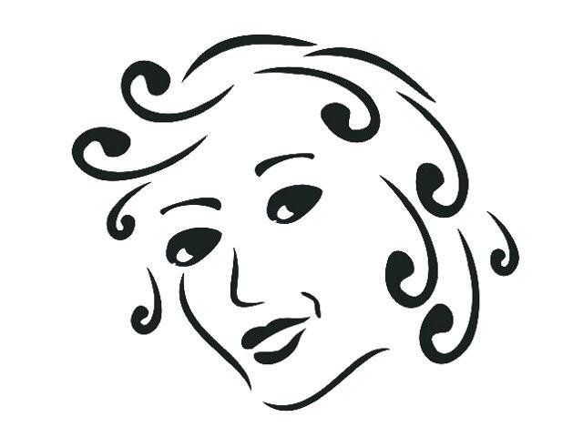 Naklejka dekoracyjna welurowa twarz 673030-7 Klimaty Domu