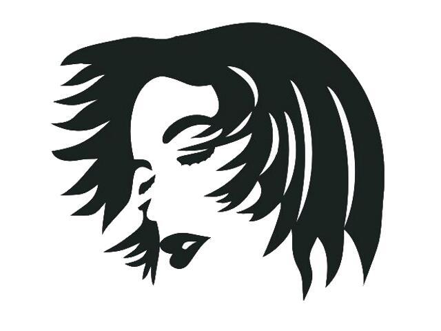 Naklejka dekoracyjna welurowa twarz 673032-7 Klimaty Domu