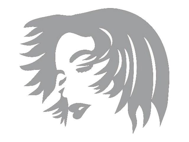 Naklejka dekoracyjna welurowa twarz 673032-12 Klimaty Domu